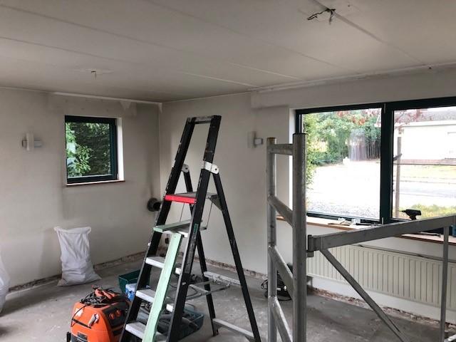 renovatie woonkamer De Klinge