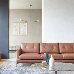 saba italia Essentiel sofa in leder